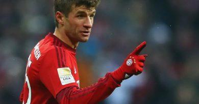 Томас Мюллер на одной из игр за сборную Германии